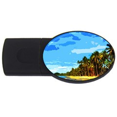 Landscape Usb Flash Drive Oval (2 Gb) by Valentinaart