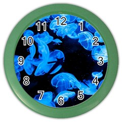 Jellyfish  Color Wall Clocks by Valentinaart