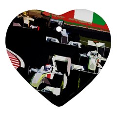 Formula 1 Heart Ornament (two Sides) by Valentinaart
