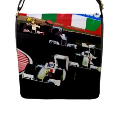 Formula 1 Flap Messenger Bag (l)  by Valentinaart