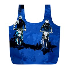 Motorsport  Full Print Recycle Bags (l)  by Valentinaart