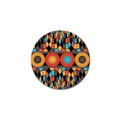 Colorful Geometric Composition Golf Ball Marker by linceazul