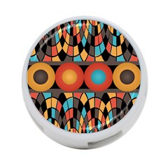 Colorful Geometric Composition 4 Port Usb Hub (one Side) by linceazul