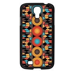 Colorful Geometric Composition Samsung Galaxy S4 I9500/ I9505 Case (black) by linceazul