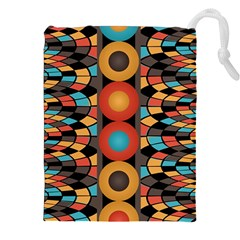 Colorful Geometric Composition Drawstring Pouches (xxl) by linceazul
