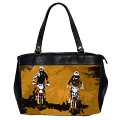 Motorsport  Office Handbags (2 Sides)  by Valentinaart
