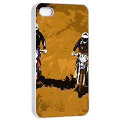 Motorsport  Apple Iphone 4/4s Seamless Case (white) by Valentinaart