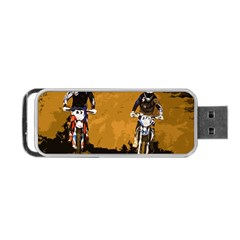 Motorsport  Portable Usb Flash (one Side) by Valentinaart