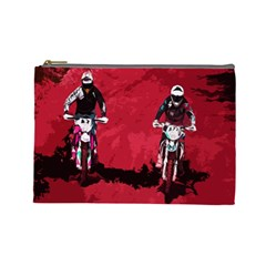 Motorsport  Cosmetic Bag (large)  by Valentinaart