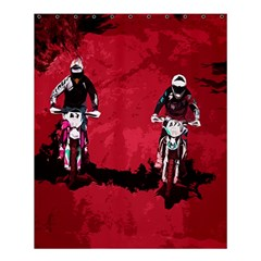 Motorsport  Shower Curtain 60  X 72  (medium)  by Valentinaart