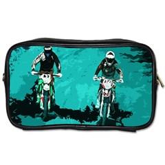 Motorsport  Toiletries Bags by Valentinaart