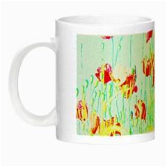 Poppy Field Night Luminous Mugs by Valentinaart
