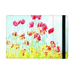 Poppy Field Apple Ipad Mini Flip Case by Valentinaart
