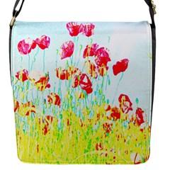 Poppy Field Flap Messenger Bag (s) by Valentinaart