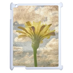 Shabby Chic Style Flower Over Blue Sky Photo  Apple Ipad 2 Case (white) by dflcprints