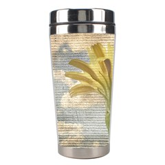 Shabby Chic Style Flower Over Blue Sky Photo  Stainless Steel Travel Tumblers by dflcprints