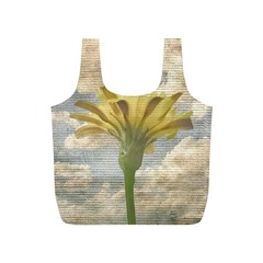 Shabby Chic Style Flower Over Blue Sky Photo  Full Print Recycle Bags (s)  by dflcprints