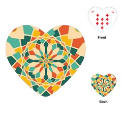 Summer Festival Playing Cards (heart)  by linceazul