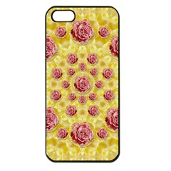Roses And Fantasy Roses Apple Iphone 5 Seamless Case (black) by pepitasart