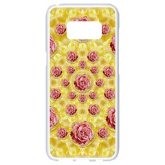 Roses And Fantasy Roses Samsung Galaxy S8 White Seamless Case by pepitasart