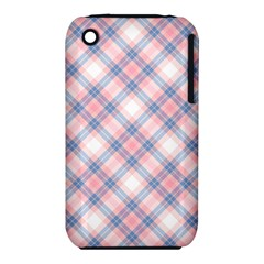 Pastel Pink And Blue Plaid Iphone 3s/3gs by NorthernWhimsy