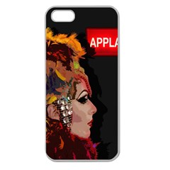 Transvestite Apple Seamless Iphone 5 Case (clear) by Valentinaart