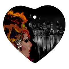 Transvestite Heart Ornament (two Sides) by Valentinaart