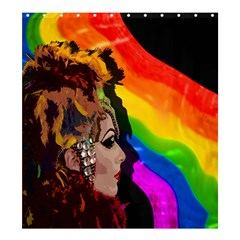Transvestite Shower Curtain 66  X 72  (large)  by Valentinaart