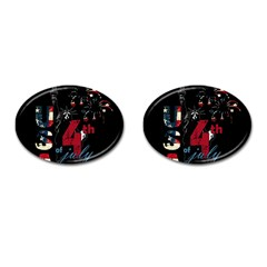 4th Of July Independence Day Cufflinks (oval) by Valentinaart