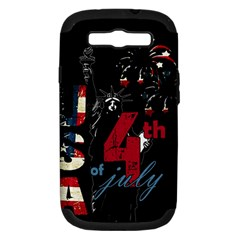 4th Of July Independence Day Samsung Galaxy S Iii Hardshell Case (pc+silicone) by Valentinaart