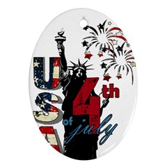 4th Of July Independence Day Oval Ornament (two Sides) by Valentinaart