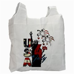 4th Of July Independence Day Recycle Bag (one Side) by Valentinaart
