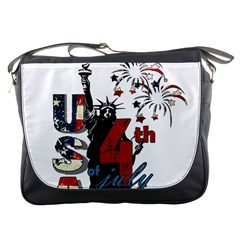 4th Of July Independence Day Messenger Bags by Valentinaart