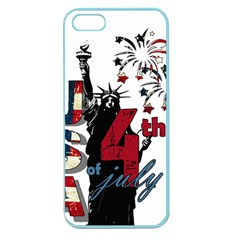 4th Of July Independence Day Apple Seamless Iphone 5 Case (color) by Valentinaart