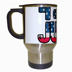 4th Of July Independence Day Travel Mugs (white) by Valentinaart