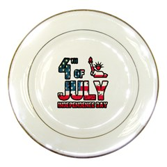 4th Of July Independence Day Porcelain Plates by Valentinaart