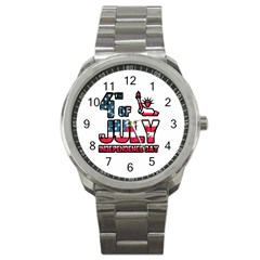4th Of July Independence Day Sport Metal Watch by Valentinaart