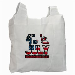 4th Of July Independence Day Recycle Bag (two Side)  by Valentinaart