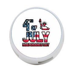 4th Of July Independence Day 4 Port Usb Hub (one Side) by Valentinaart