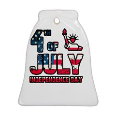 4th Of July Independence Day Bell Ornament (two Sides) by Valentinaart