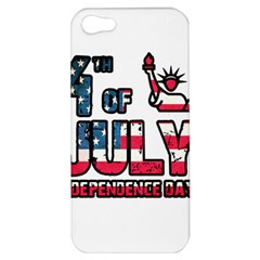 4th Of July Independence Day Apple Iphone 5 Hardshell Case by Valentinaart