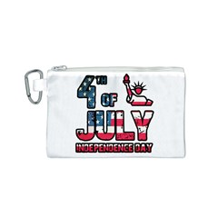 4th Of July Independence Day Canvas Cosmetic Bag (s) by Valentinaart