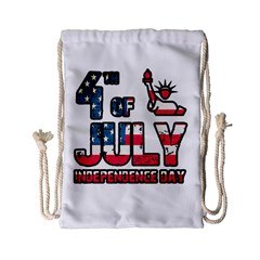 4th Of July Independence Day Drawstring Bag (small) by Valentinaart