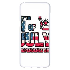 4th Of July Independence Day Samsung Galaxy S8 Plus White Seamless Case by Valentinaart