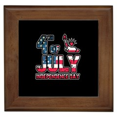 4th Of July Independence Day Framed Tiles by Valentinaart