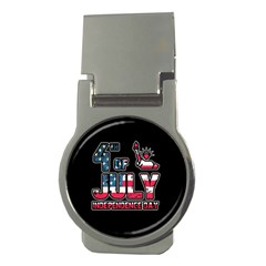 4th Of July Independence Day Money Clips (round)  by Valentinaart