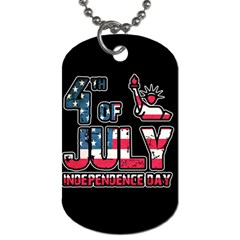 4th Of July Independence Day Dog Tag (one Side) by Valentinaart