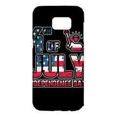 4th Of July Independence Day Samsung Galaxy S7 Edge Hardshell Case by Valentinaart