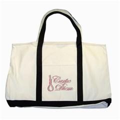 Carpe Diem  Two Tone Tote Bag by Valentinaart