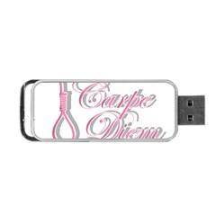 Carpe Diem  Portable Usb Flash (two Sides) by Valentinaart
